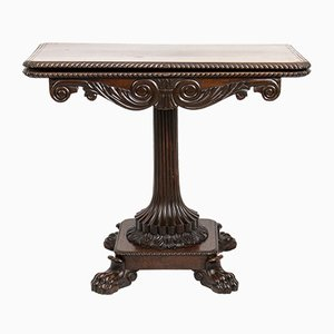 Antique Italian Rosewood Game Table