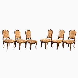 18th Century Dining Chairs from Lombardia, Set of 6