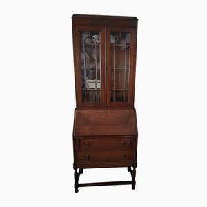 Antique English Oak Top Secretaire