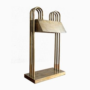 Bauhaus Table Lamp and Letter Holder by Marcel Breuer for Exhibition in Paris, 1926, Set of 2