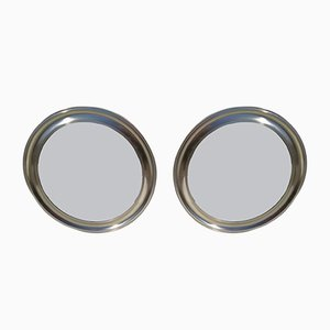 Italienische Spiegel mit Silberrahmen, 1960er, 2er Set