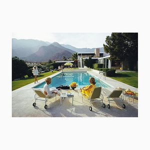 Poolside Gossip Print by Slim Aarons