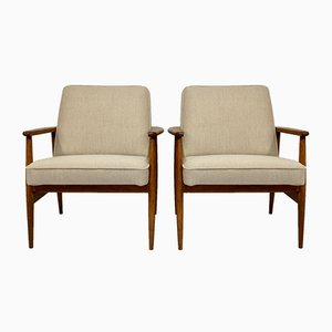 Vintage Lounge Chairs by M. Zielinski for Glucholaskie, 1960s, Set of 2