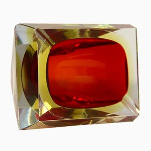Sommerso Murano Glass Ashtray by Alessandro Mandruzzato, 1960s