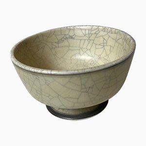 Craquele Glasierte Keramik Zuckerdose von Royal Copenhagen, 1960er