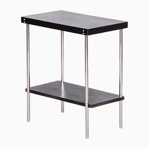 Small Czech Bauhaus Black Chrome R19 Side Table by Robert Slezák, 1930s