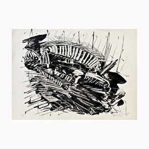 Limited Edition Lithographie von KRH Sonderborg, 1963