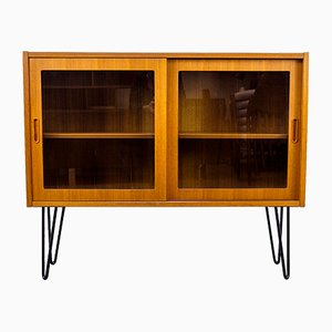 Danish Teak Sideboard with Glass Doors by Carlo Jensen for Hundevad & Co., 1960s