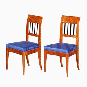 19th Century Czech Biedermeier Dining Chairs in Cherry, Set of 2