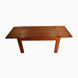 Vintage Extendable Solid Elm Dining Table from Maison Regain, 1970s