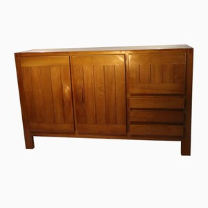 Vintage Solid Elm Buffet from Maison Regain, 1970s
