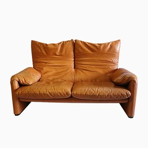 Leather Sofa by Vico Magistretti for Cassina, 1970s
