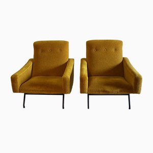 Lounge Chairs by Joseph-André Motte for Steiner, 1950s, Set of 2