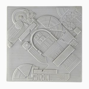 Porcelain High Relief Wall Sculpture by Eduardo Paolozzi for Rosenthal, 1970s