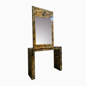 Neoclassical Italian Mirror and Console Set, 1970s