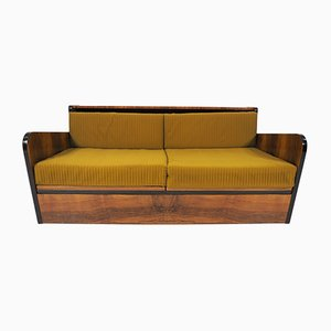 Art Deco Walnut Sofa Bed, 1960s