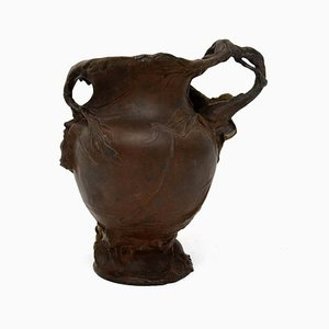 Antique Art Nouveau Bronze Urn