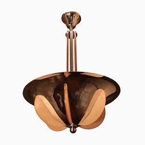 Art Deco Ceiling Lamp in the Style of Henri Petitot, 1930s