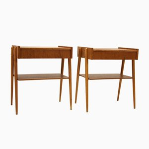 Scandinavian Teak Nightstands from Carlstorm, 1960s, Set of 2