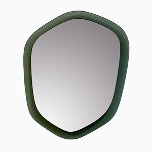 Italian Gray Glass Mirror, 1960s