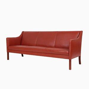 Dänisches Mid-Century 3-Sitzer Sofa aus Leder von Jacob Kjaer