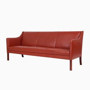 Mid-Century Danish Leather 3-Seater Sofa from Jacob Kjaer