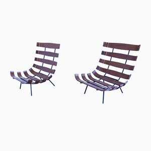 Mid-Century Model Costela Lounge Chairs by Martin Eisler & Carlo Hauner for Forma, Set of 2