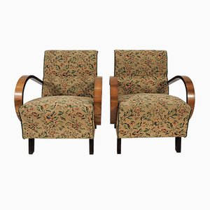 Art Deco Lounge Chairs, 1950s, Set of 2