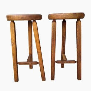 Brutalist Bar Stools, 1950s, Set of 2