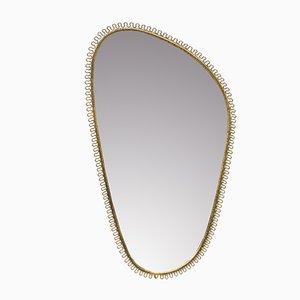 Hammered Brass Mirror by Josef Frank, 1950s