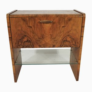 Art Deco Walnut Cabinet, 1960s