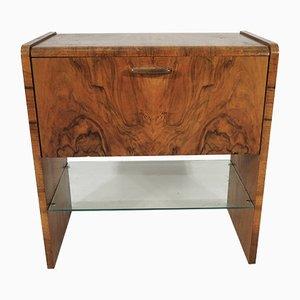 Mueble Art Déco de nogal, años 60