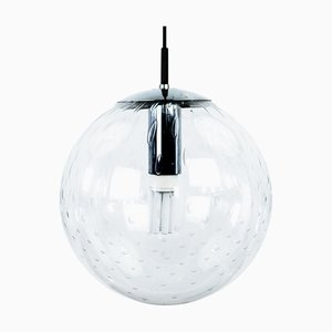 Large Mid-Century Glass Globe Ceiling Lamp from Raak
