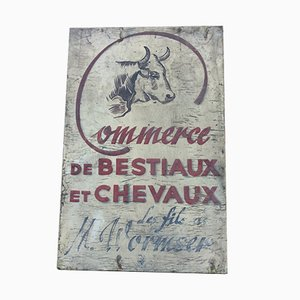 Vintage French Market Sign, 1950s