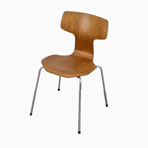 Model 3103 Teak Hammer Dining Chairs by Arne Jacobsen for Fritz Hansen, 1964, Set of 6