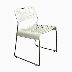 White Omstak Stacking Chair by Rodney Kinsman for Bieffeplast, 1971