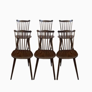 Vintage Bistro Chairs, 1960s, Set of 6