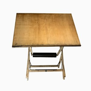 Oak Architects Drafting Table from Unic, 1930s