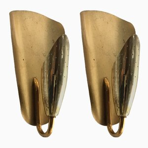 Small Mid-Century Sconces in the Style of Paavo Tynell, 1950s, Set of 2