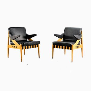 Vintage Model SE122 A Lounge Chairs by Egon Eiermann for Wilde+Spieth, 1950s, Set of 2