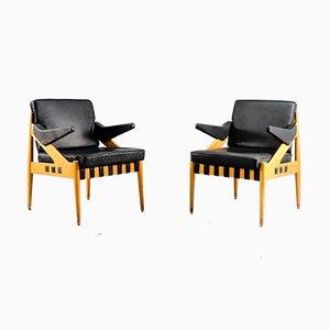 Vintage Modell SE122 A Sessel von Egon Eiermann für Wilde + Spieth, 1950er, 2er Set