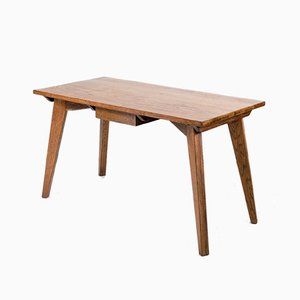 Modernist French Oak Dining Table, 1950s