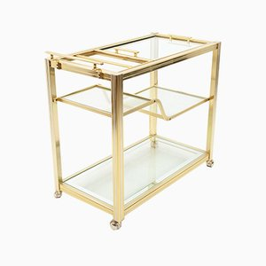 Brass Bar Cart from Maison Jansen, 1976