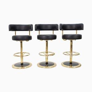 Brass Model Jupiter Bar Stools by Börje Johanson for AB Markaryd, 1968, Set of 3