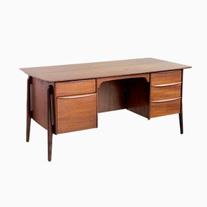 Danish Teak Executive Desk by Svend Åge Madsen for Sigurd Hansen, 1950s