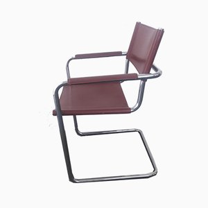 Leather Lounge Chairs by Matteo Grassi, 1970s, Set of 2