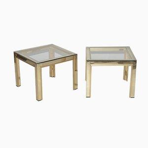 Vintage Italian Side Tables from Renato Zevi, 1970s, Set of 2