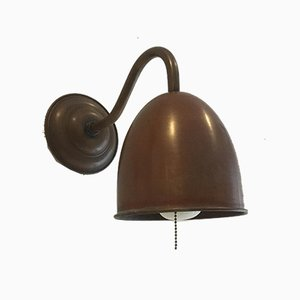 Vintage Scandinavian Copper Wall Lights, 1970s, Set of 2