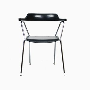 Mid-Century Black Model 4455 Dining Chairs by Niko Kralj, Set of 2