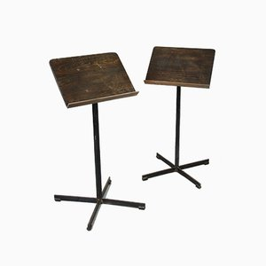 Mid-Century Music or Restaurant Menu Stand, Set of 2